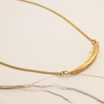 Brass Katu Crescent Necklace